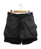 Comfy Outdoor Garment(コンフィーアウトドアガーメンツ)の古着「キルティックショーツ」|ブラック