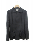 YOHJI YAMAMOTO(ヨウジヤマモト)の古着「ウールギャバデザインジャケット」|ブラック
