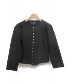 agnes b(アニエスベー)の古着「スナップボタンカーディガン」|ブラック