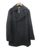 BURBERRY BLACK LABEL(バーバリーブラックレーベル)の古着「メルトンコート」|ブラック
