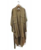 Maison MIHARA YASUHIRO(メゾンミハラヤスヒロ)の古着「ロングシャツ」|ブラウン