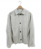 .efiLevol(エフィレボル)の古着「Fake Suede Shirt jacket」|グレー