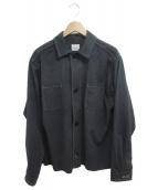 .efiLevol(エフィレボル)の古着「Fake Suede Shirt jacket」|ブラック