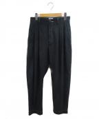 .efiLevol(エフィレボル)の古着「Fake Suede Loose Tapered Pants」|ブラック