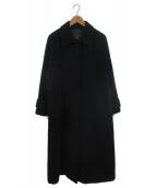 SLOBE IENA(スローブイエナ)の古着「SUPER100ステンカラーコート」|ブラック