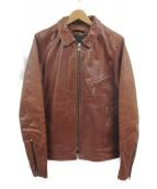 VANSON(バンソン)の古着「レザージャケット」|ブラウン