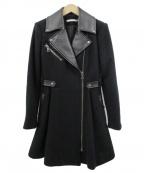 alice+olivia(アリスアンドオリビア)の古着「ライダースコート」 ブラック
