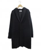 evam eva(エヴァムエヴァ)の古着「アンゴラウールコート」 ブラック