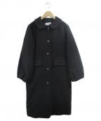 Jocomomola(ホコモモラ)の古着「ウールモッサコート」|ブラック