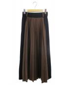 WRAPINKNOT(ラッピンノット)の古着「プリーツスカート」|ブラウン