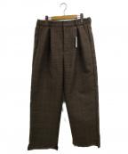 .efiLevol(エフィレボル)の古着「タックパンツ」|ブラウン