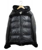EMMETI(エンメティ)の古着「ムートンダウンジャケット」|ブラック