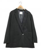 bractment(ブラクトメント)の古着「ウール ボタニー ルーズ カバーオール ジャケット」|ブラック