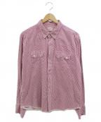 TENDERLOIN(テンダーロイン)の古着「ウエスタンシャツ」|レッド
