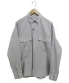 Porter Classic(ポータークラシック)の古着「ROLL UP STRIPE SHIRT」|グレー