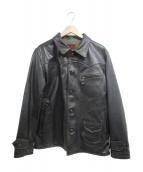 Buzz Ricksons(バズリクソンズ)の古着「Aviation Style Leather Jacket」|ブラック