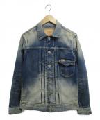 TMT(ティーエムティー)の古着「HYBRID STRETCH DENIM JACKET」|ブルー