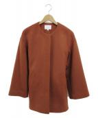 BEAUTY&YOUTH(ビューティーアンドユース)の古着「ノーカラーコート」 ブラウン