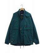 ()の古着「ヴィンテージスタンドカラーナイロンジャケット」 ブルー