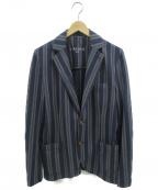 CIRCOLO 1901(チルコロ1901)の古着「ストライプテーラードジャケット」 ネイビー