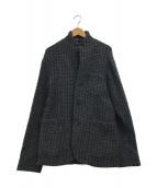 ()の古着「ウールニットジャケット」|グレー