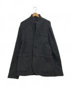 BARNEYS NEWYORK(バーニーズ・ニューヨーク)の古着「ウールニットジャケット」 グレー