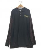 Coogi()の古着「古着オーバーサイズラガーシャツ」 ブラック