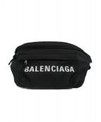 BALENCIAGA(バレンシアガ)の古着「WHEELウエストバッグ」|ブラック