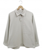 .efiLevol(エフィレボル)の古着「オーバーサイズハーフボタンシャツ」|ベージュ