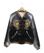 東洋エンタープライズ(トウヨウエンタープライズ)の古着「サテンスカジャン / ベトジャン」|ブラック