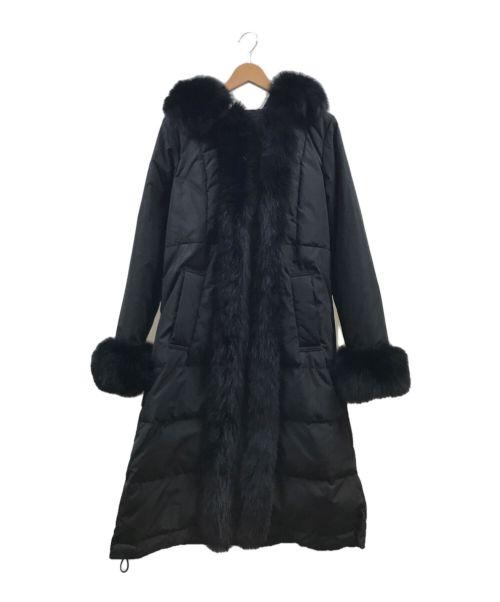 Diagram(ダイアグラム)Diagram (ダイアグラム) FOXトリミングコート ブラック サイズ:2-36の古着・服飾アイテム