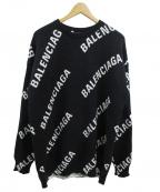 BALENCIAGA(バレンシアガ)の古着「クルーネックロゴニット」|ブラック