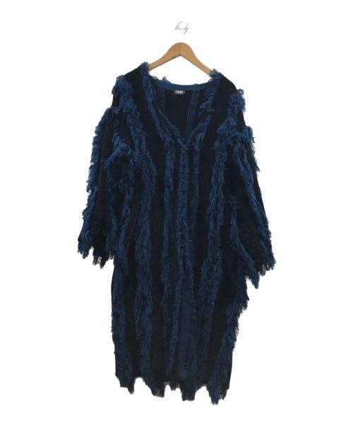 PAMEO POSE(パメオポーズ)PAMEO POSE (パメオポーズ) MONSTER CORDIGAN ネイビー サイズ:FREEの古着・服飾アイテム