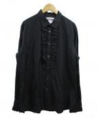 MOSCHINO(モスキーノ)の古着「フリルデザインシャツ」|ブラック