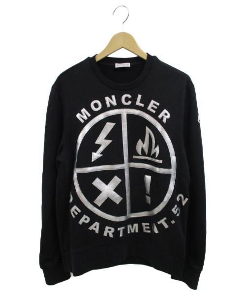 MONCLER(モンクレール)MONCLER (モンクレール) 立体プリントスウェット ブラック サイズ:Mの古着・服飾アイテム