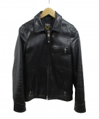 SCHOTT BROS.(ショットブロス)の古着「シングルライダースジャケット」|ブラック