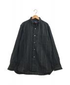 ()の古着「ステッチデザインウールシャツ」|グレー