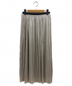DRESSTERIOR(ドレステリア)の古着「洗える楊柳ブライトシアースカート」|ベージュ
