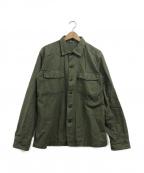 TOYS MCCOY(トイズマッコイ)の古着「ユーティリティーシャツ」|オリーブ