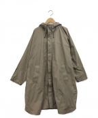 Mila Owen(ミラオーウェン)の古着「ユーティリティフードポンチョコート」 ブラウン