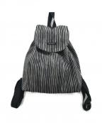 marimekko(マリメッコ)の古着「ストライプリュック」|ブラック