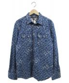 ()の古着「ジャガードデニムシャツジャケット / D-LEO」 ブルー
