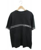 ()の古着「Knit Stripe S/S Top」 ブラック