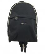 agnes b voyage(アニエスベーボヤージュ)の古着「ロゴプリントミニバックパック」|ブラック
