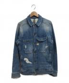 G-STAR RAW(ジースターロゥ)の古着「Wolker 3D Slim Jacket」|ブルー