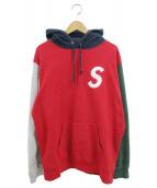 ()の古着「19SS Sロゴパーカー」 レッド