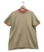 VERSACE(ヴェルサーチ)の古着「メデューサ刺繍S/Sカットソー」|ベージュ×ピンク
