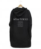 myne(マイン)の古着「ポリフーデットコート」|ブラック