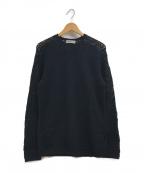 ISSEY MIYAKE MEN(イッセイミヤケメン)の古着「メッシュ編みクルーネックニット」|ブラック