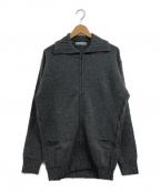 ISSEY MIYAKE MEN(イッセイミヤケメン)の古着「ウールアンゴラジップニットジャケット」|グレー